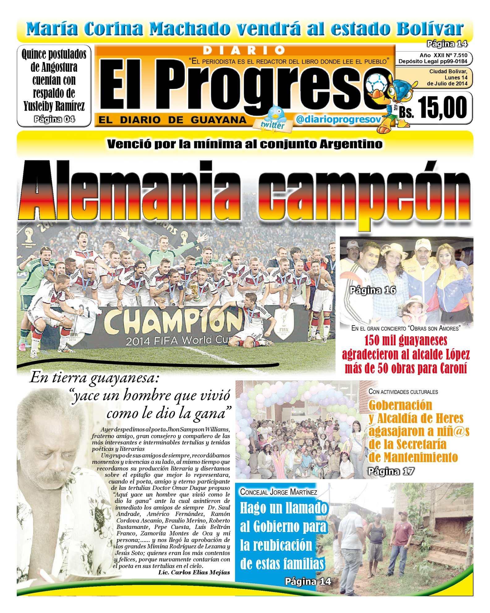 Calaméo - DIARIO EL PROGRESO EDICIÓN DIGITAL 14-07-2014
