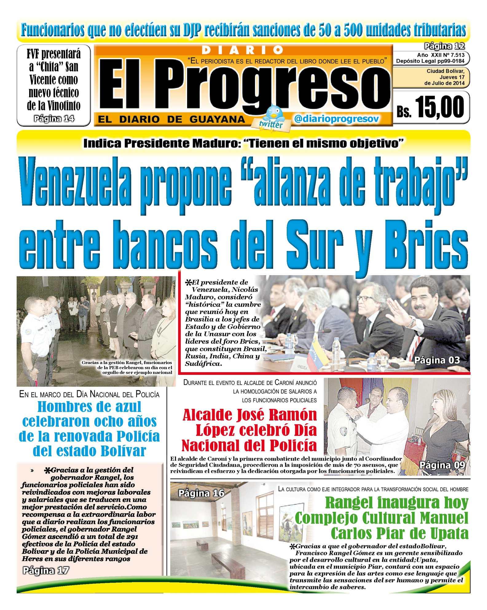 Calaméo - DIARIO EL PROGRESO EDICIÓN DIGITAL 17-07-2014