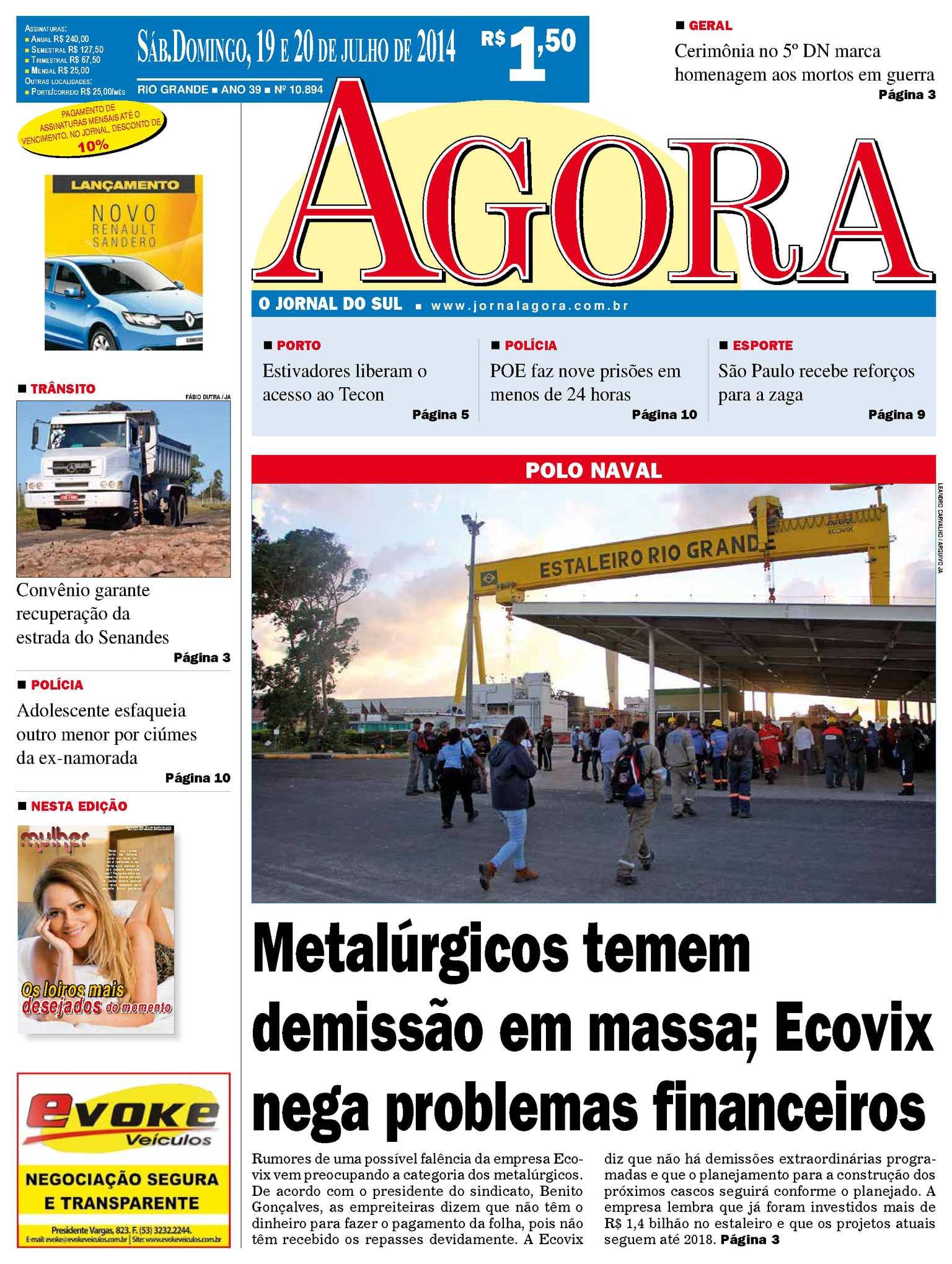 Calaméo - Jornal Agora - Edição 10894 - 19 e 20 de julho de 2014 35d3c14d5f9