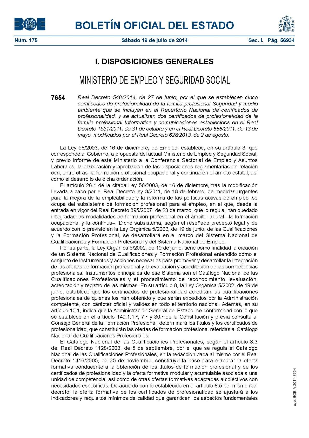 Calaméo - Certificado de Profesionalidad en Seguridad. Real Decreto ...