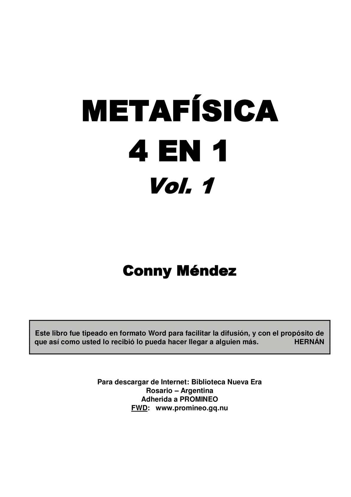 Calaméo - Metafísica 4 en 1- Volumen 1
