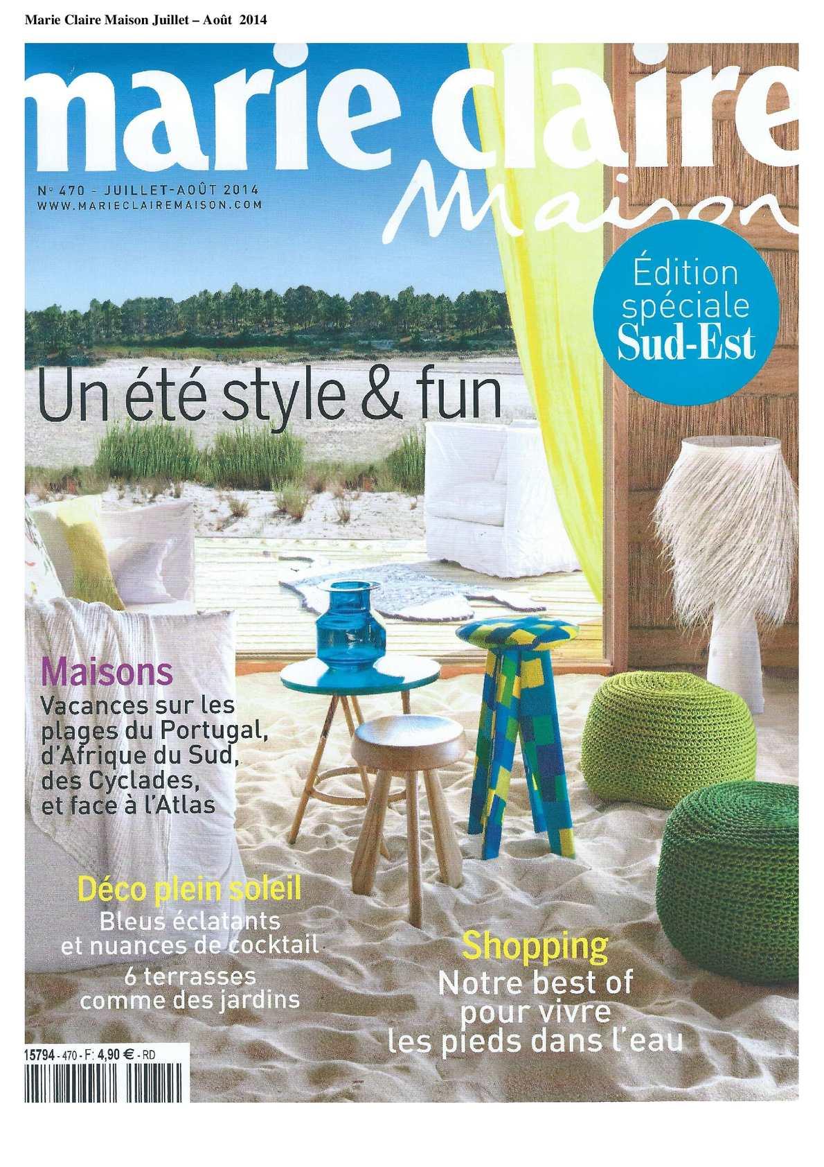 Marie Claire Maison Juillet 2014