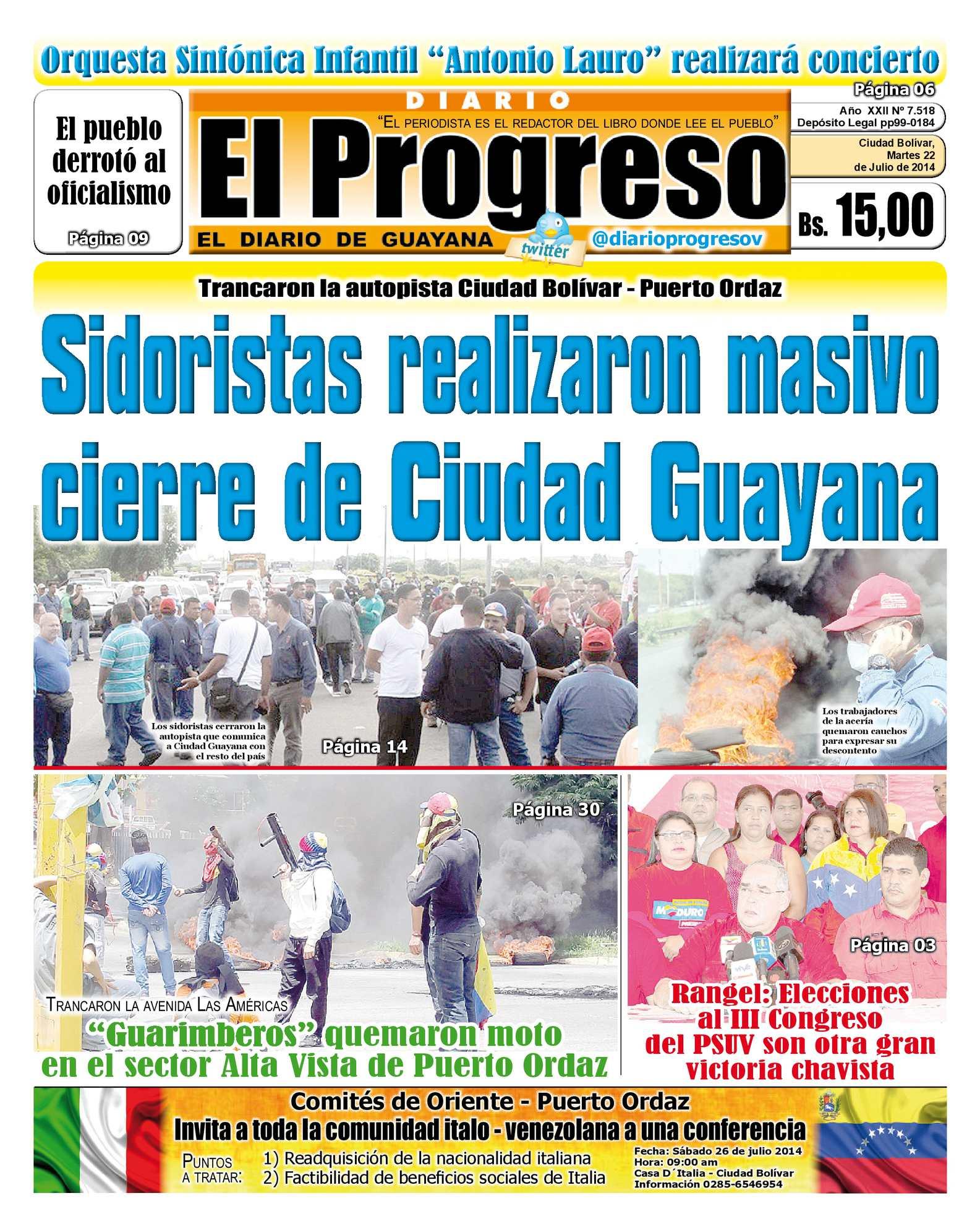 Calaméo - DIARIO EL PROGRESO EDICIÓN DIGITAL 22-07-2014