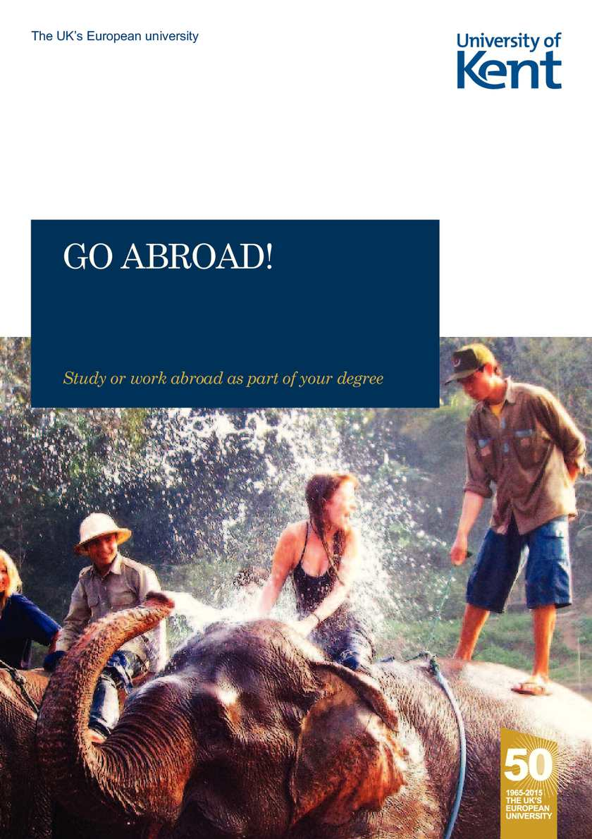 Go Abroad - The University of Kent (2014)