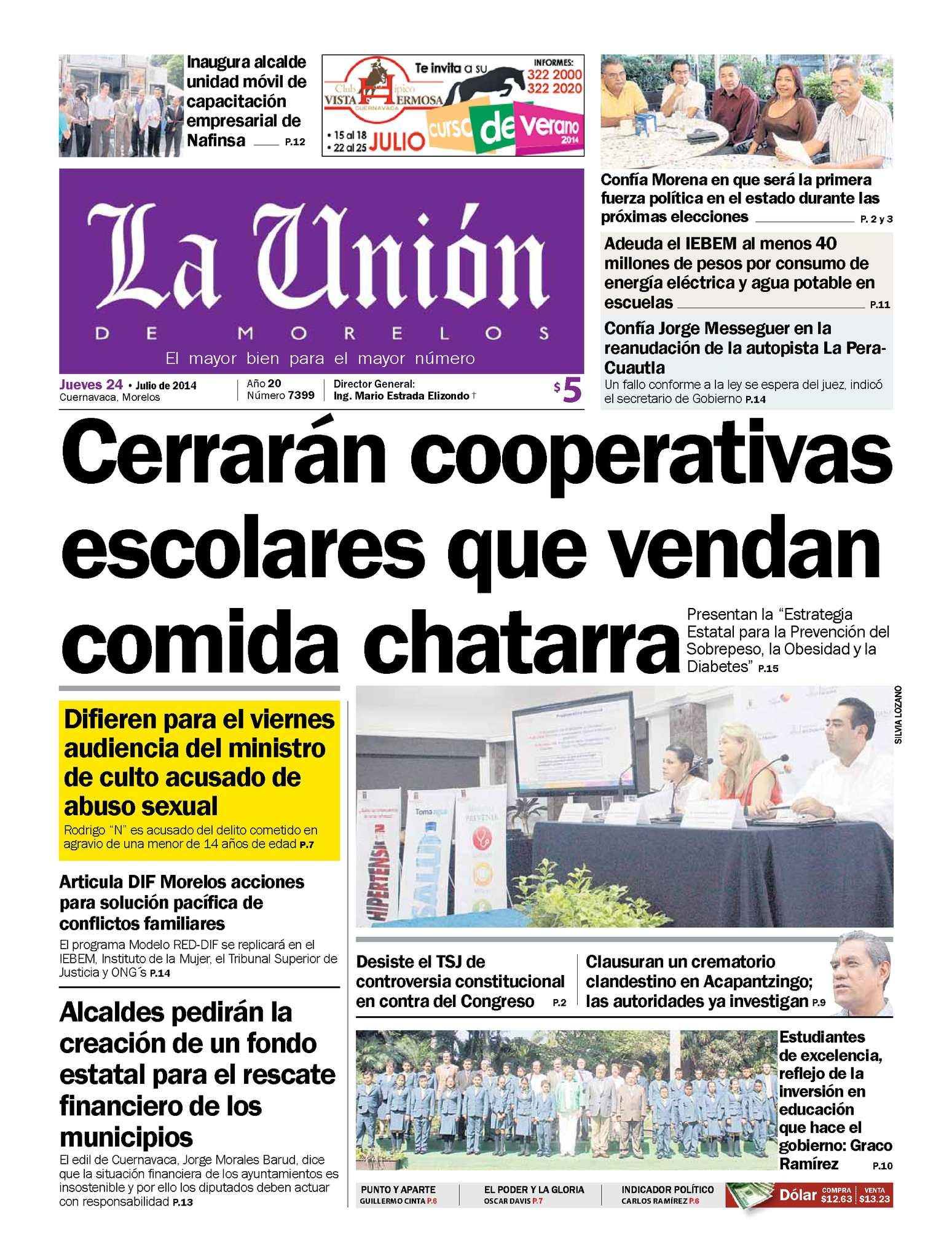 Calaméo - La Unión de Morelos 24 Julio 2014