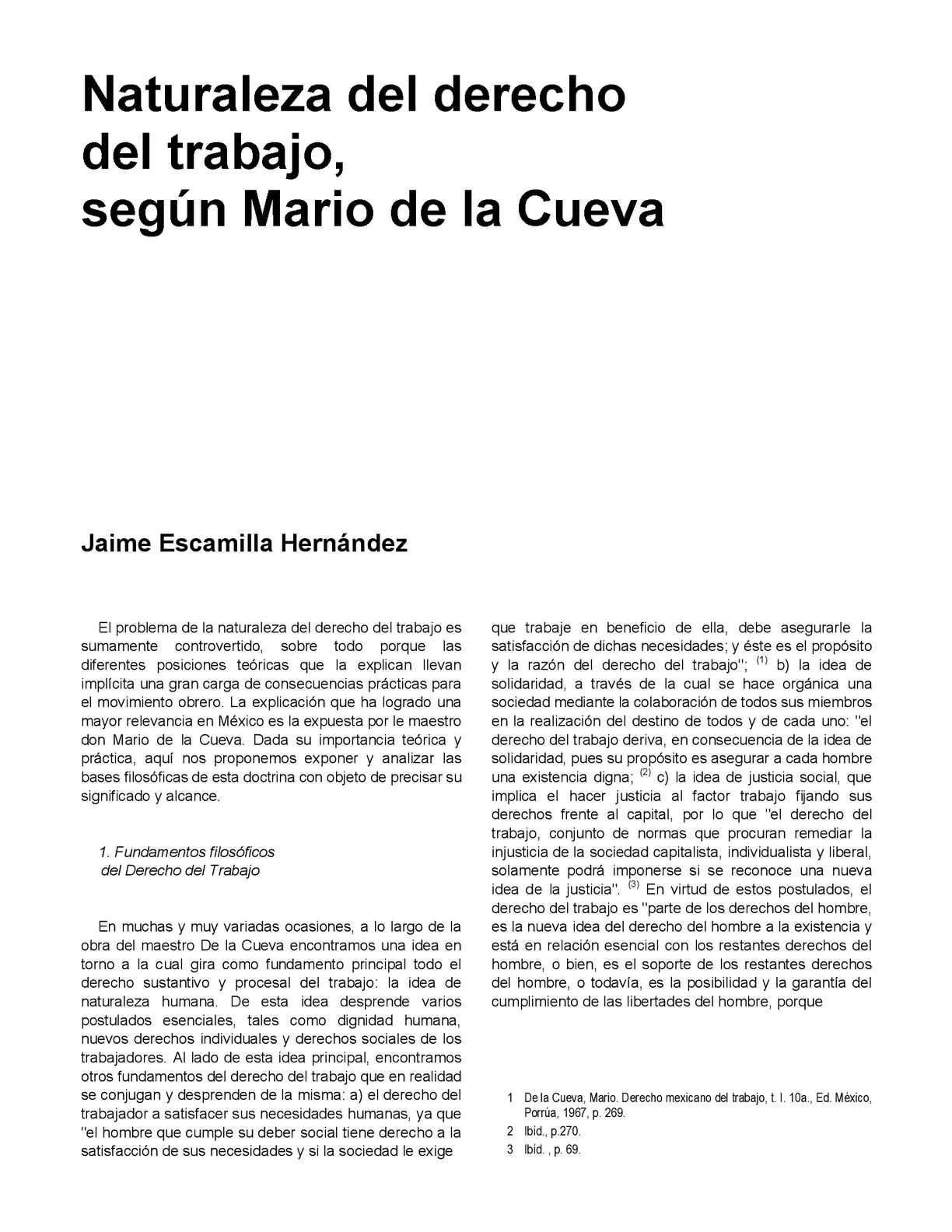 Calaméo - Artículo: Naturaleza Del Derecho Del Trabajo Según Mario ...