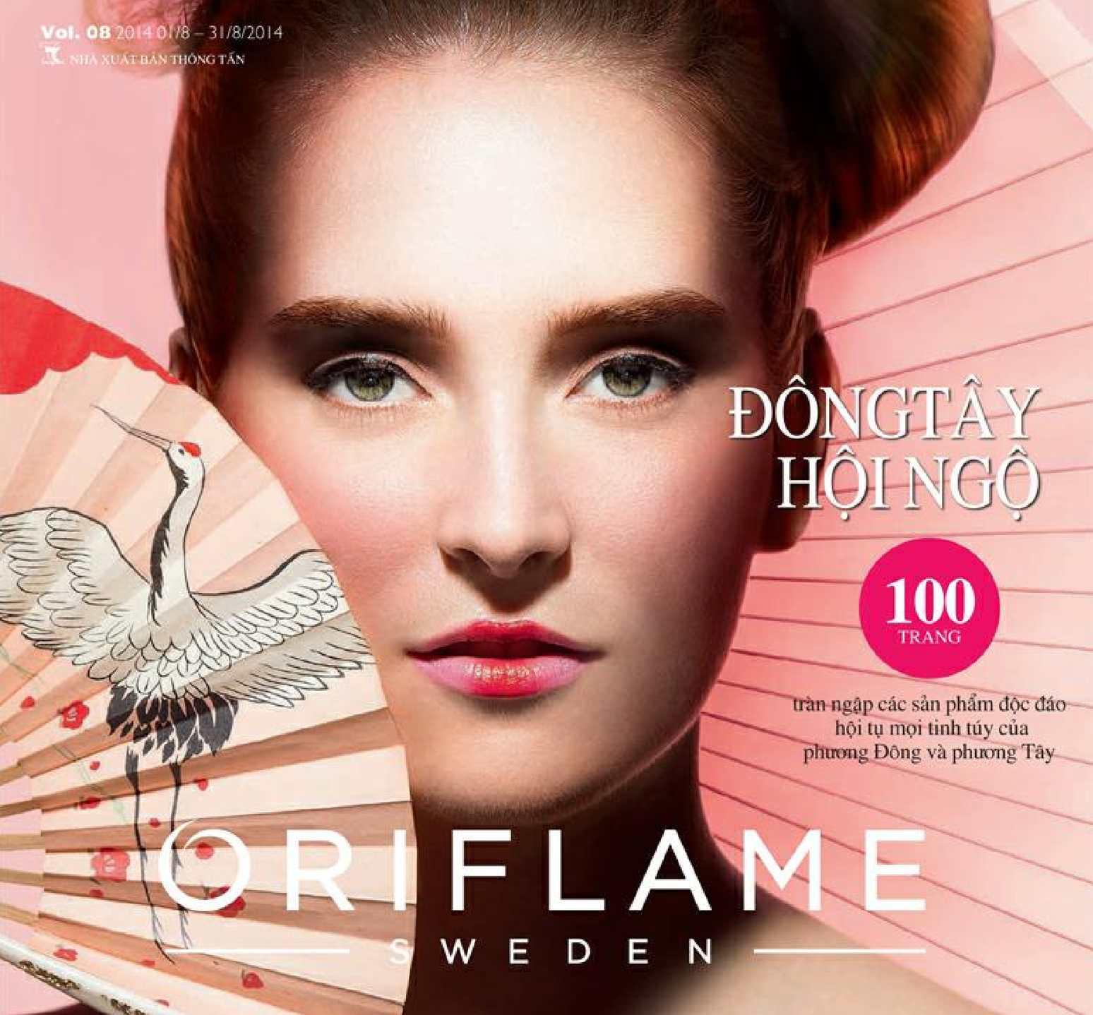 Catalogue My Pham Oriflame 8-2014