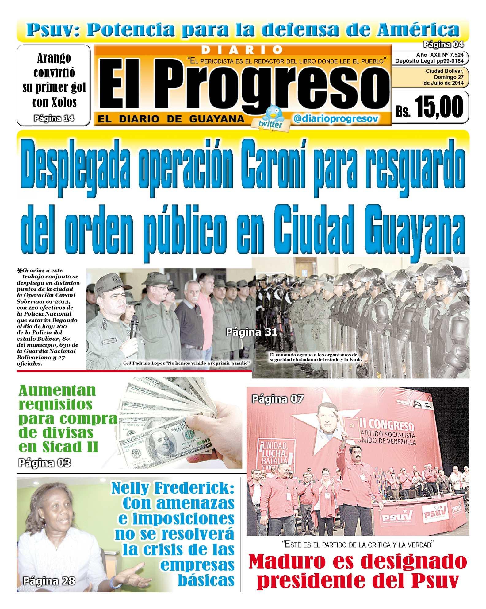 Calaméo - DIARIO EL PROGRESO EDICIÓN DIGITAL 27-07-2014