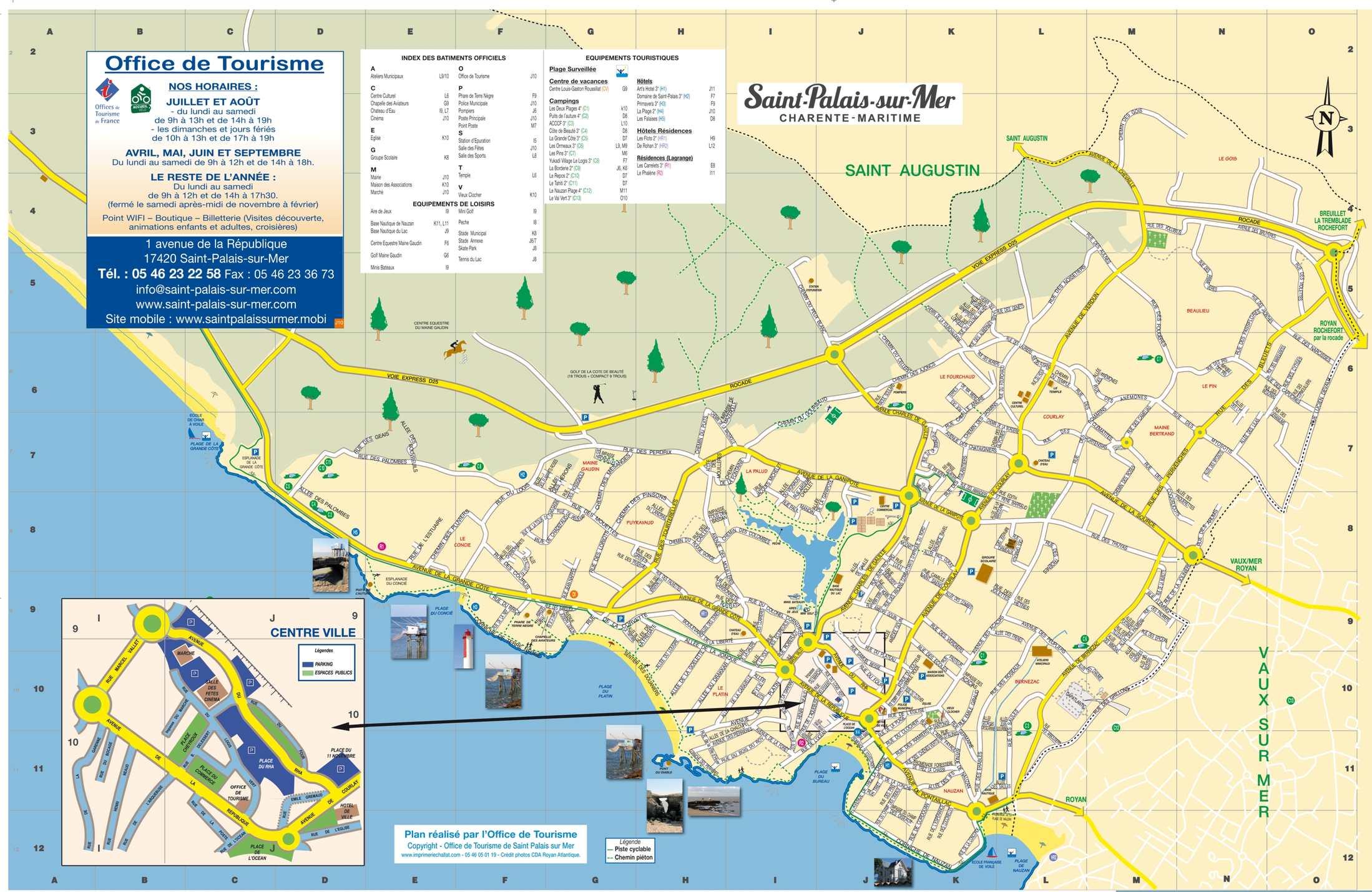 Calam o plan saint palais sur mer - Office de tourisme de st palais sur mer ...