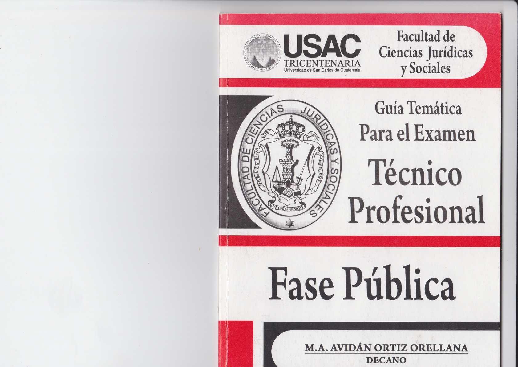 GUIA TEMATICA PARA EL EXAMEN TECNICO PROFESIONAL - FASE PUBLICA -