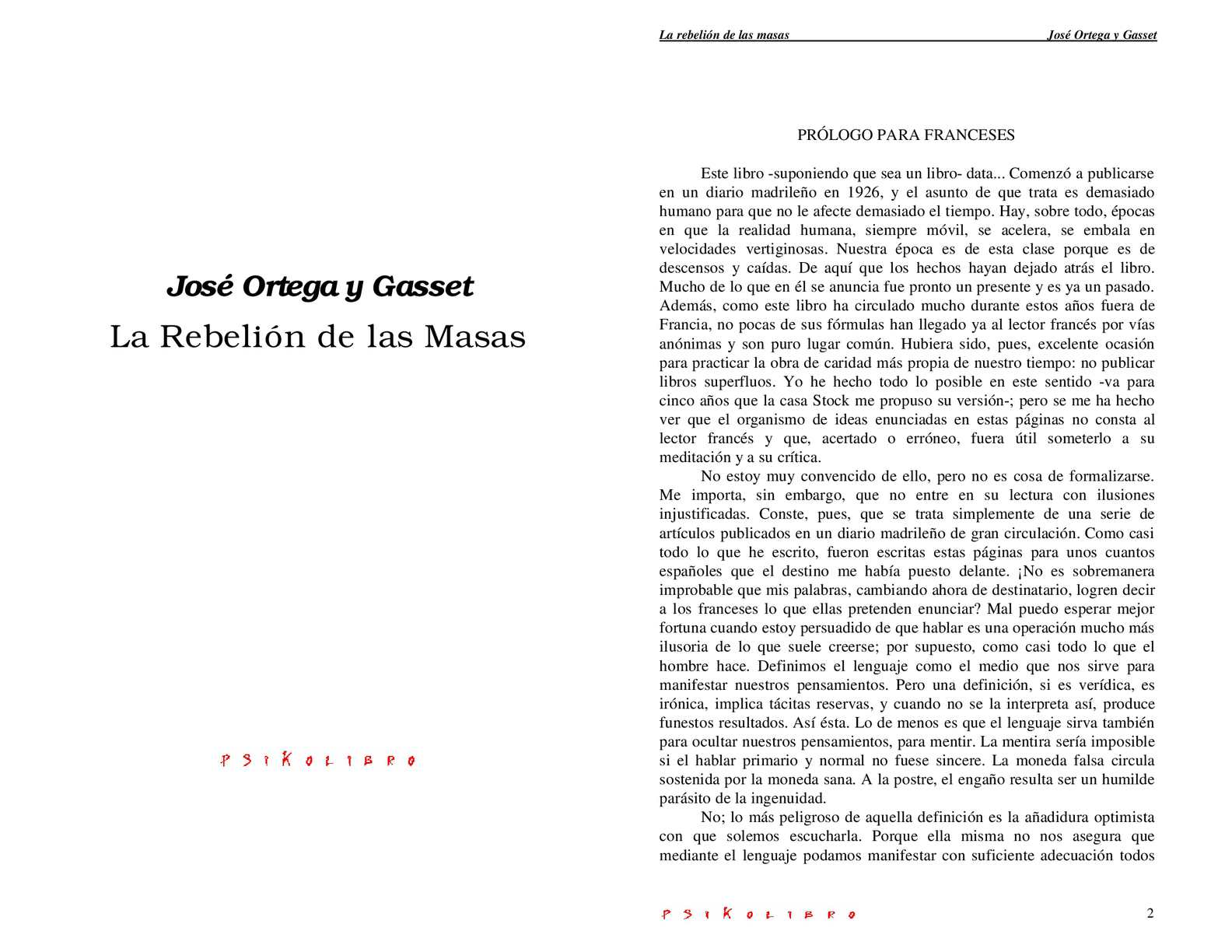 Calaméo - La rebelion de las masas