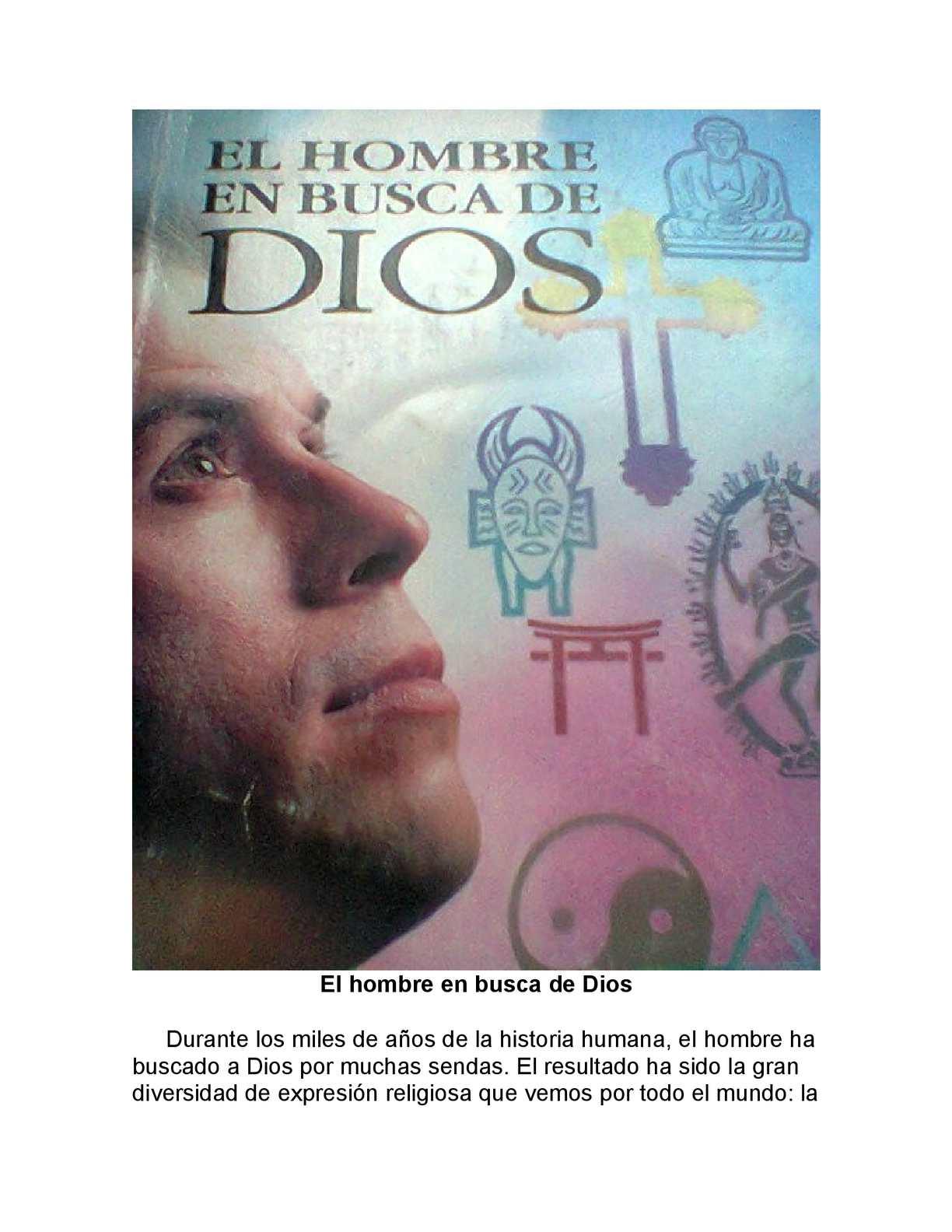 EL HOMBRE EN BUSCA DE DIOS