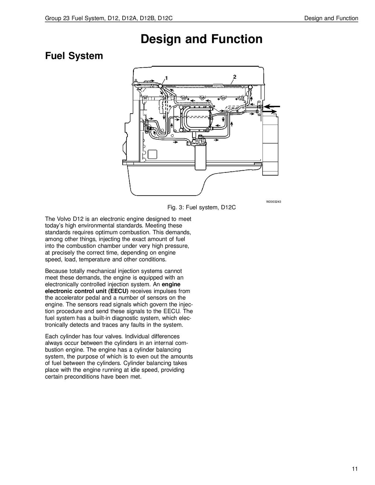 Volvo Fuel System D12 D12a D12b D12c Calameo Downloader. Volvo. Volvo D12 Engine Fuel Diagram At Scoala.co