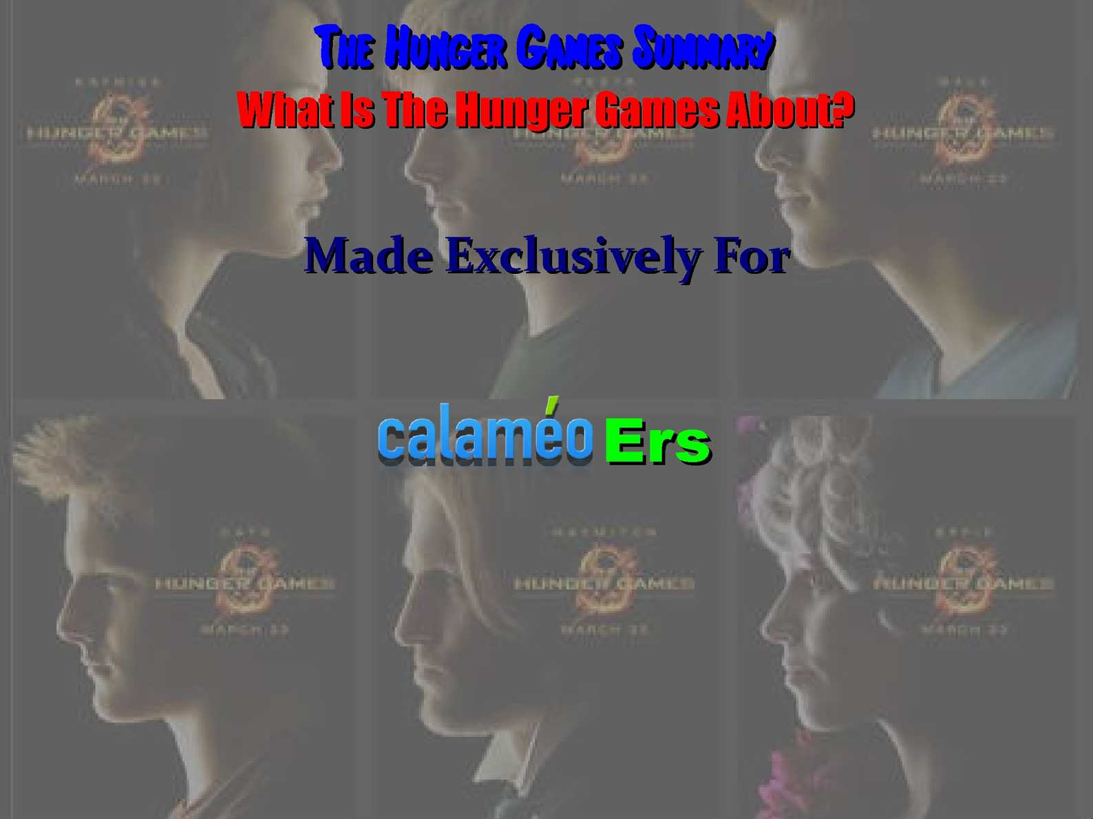 the hunger games first 50 pages summary Hunger games summary note: summary text provided by external source a chilling tale of survival from the new york times bestselling author.