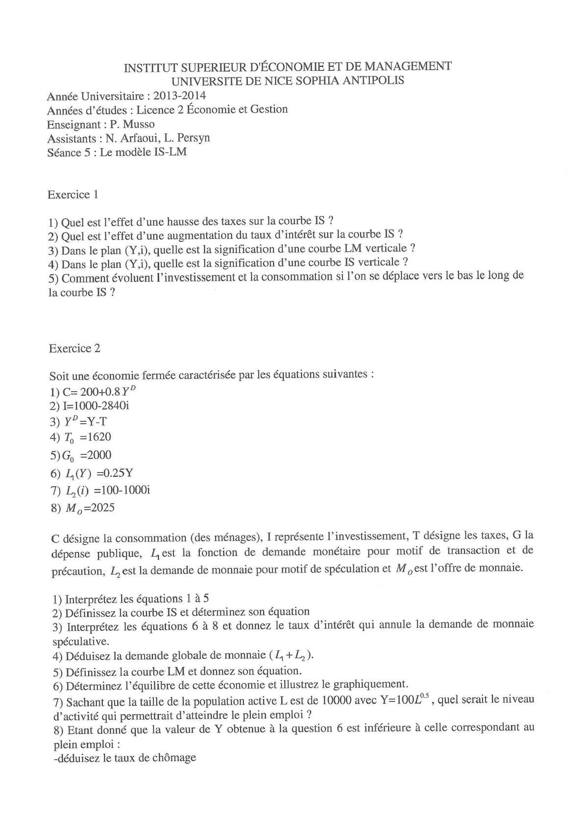 td macroéconomie_ correction séance 5