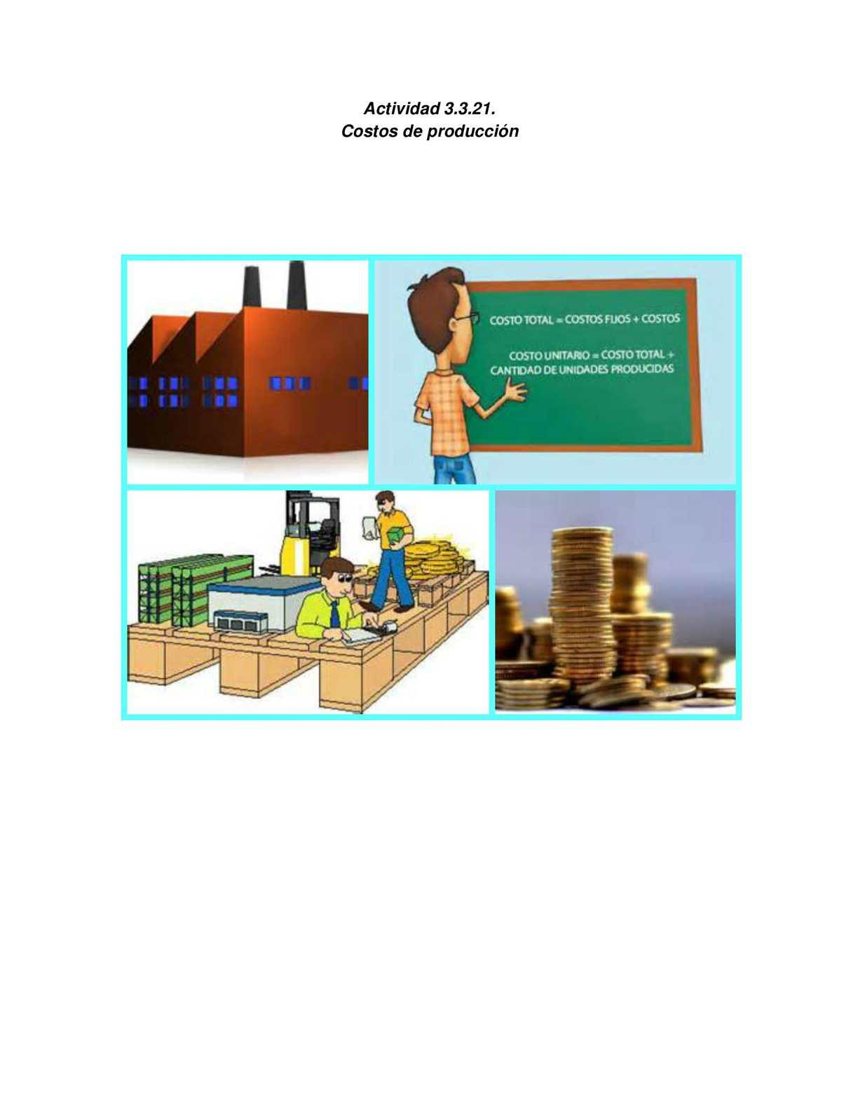 Calam o cartilla de costos de produccion for Costo medio del soffitto a cassettoni