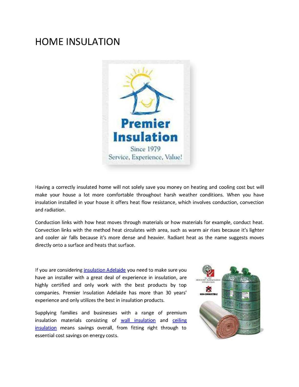 calaméo home insulation