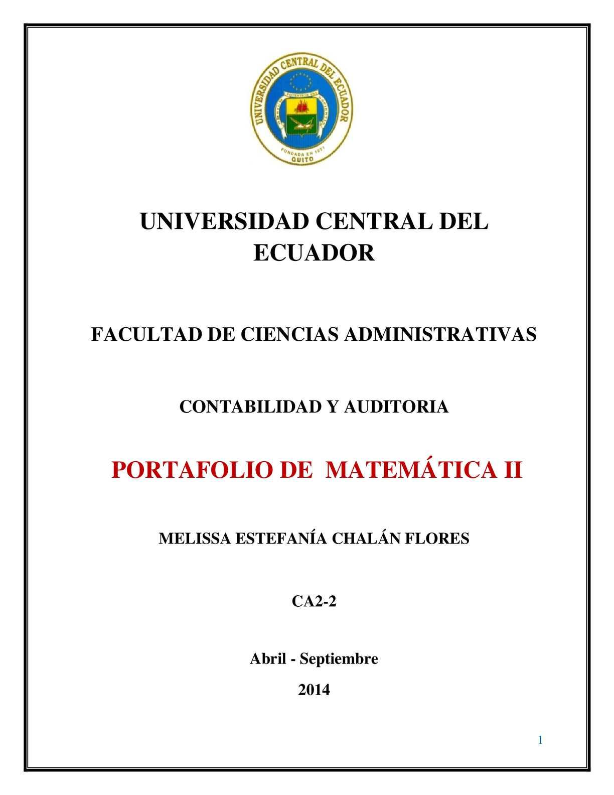Calaméo - PORTAFOLIO DE MATEMÁTICA II FINAL