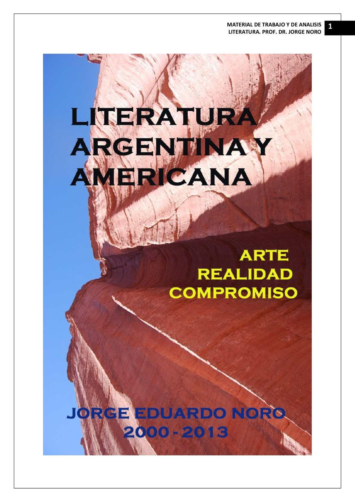 Calaméo - 172. LITERATURA ARGENTINA Y AMERICANA. ARTE, REALIDAD ...