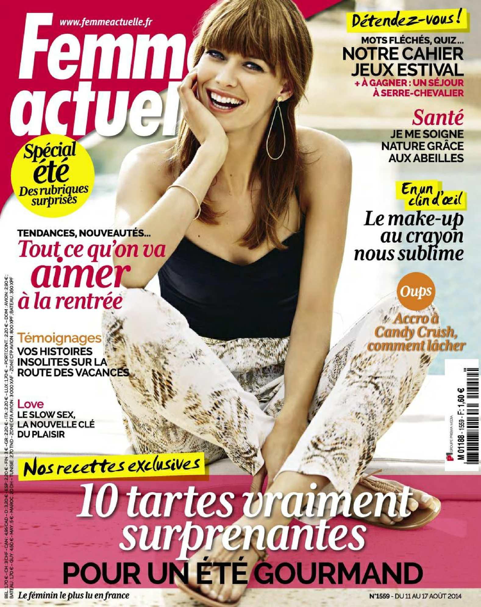 Femme Actuelle N°1559 - Du 11 au 17 Août 2014