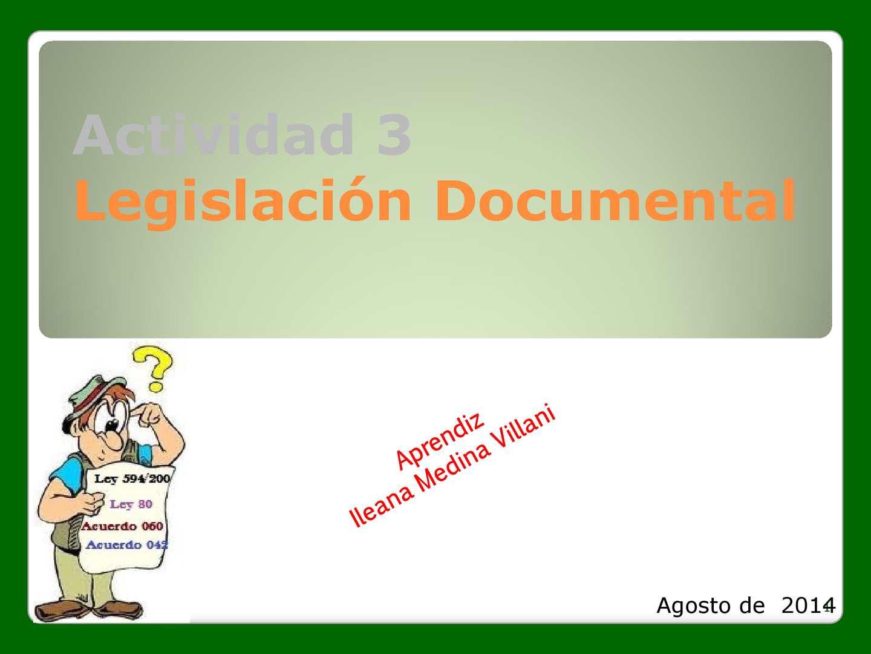 Actividad 3 Legislación Documental Ile