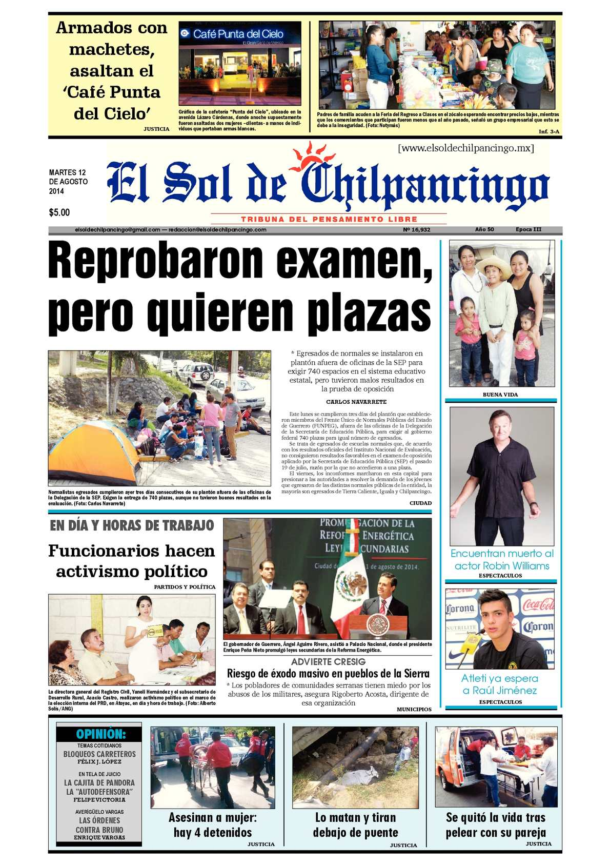 Calaméo - El Sol de Chilpancingo 12 Agosto 2014