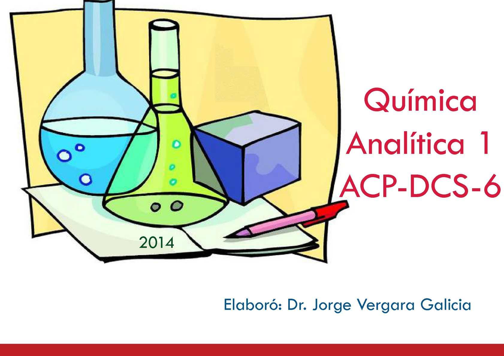 Calamo  Paquete didactico Qumica Analtica 1