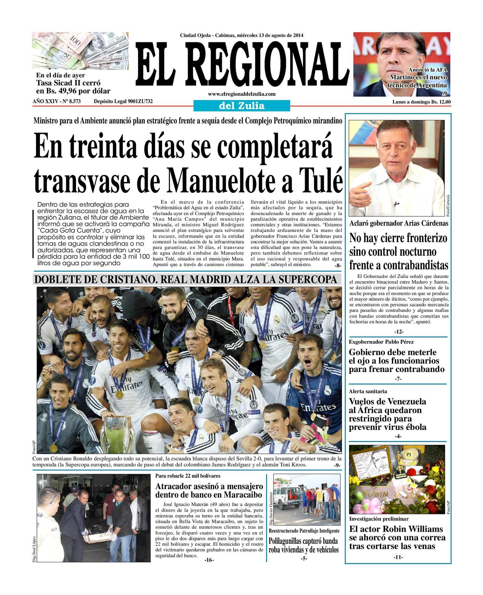 Calaméo - El Regional del Zulia 13-08-2014