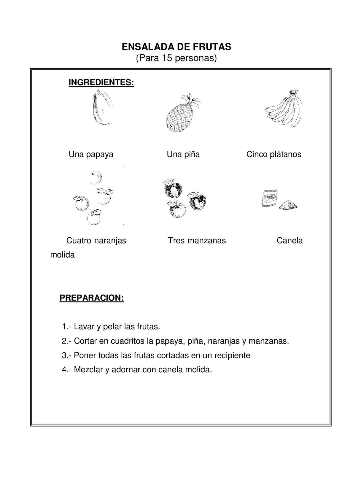 Calaméo - TEXTO INSTRUCTIVO: ENSALADA DE FRUTA