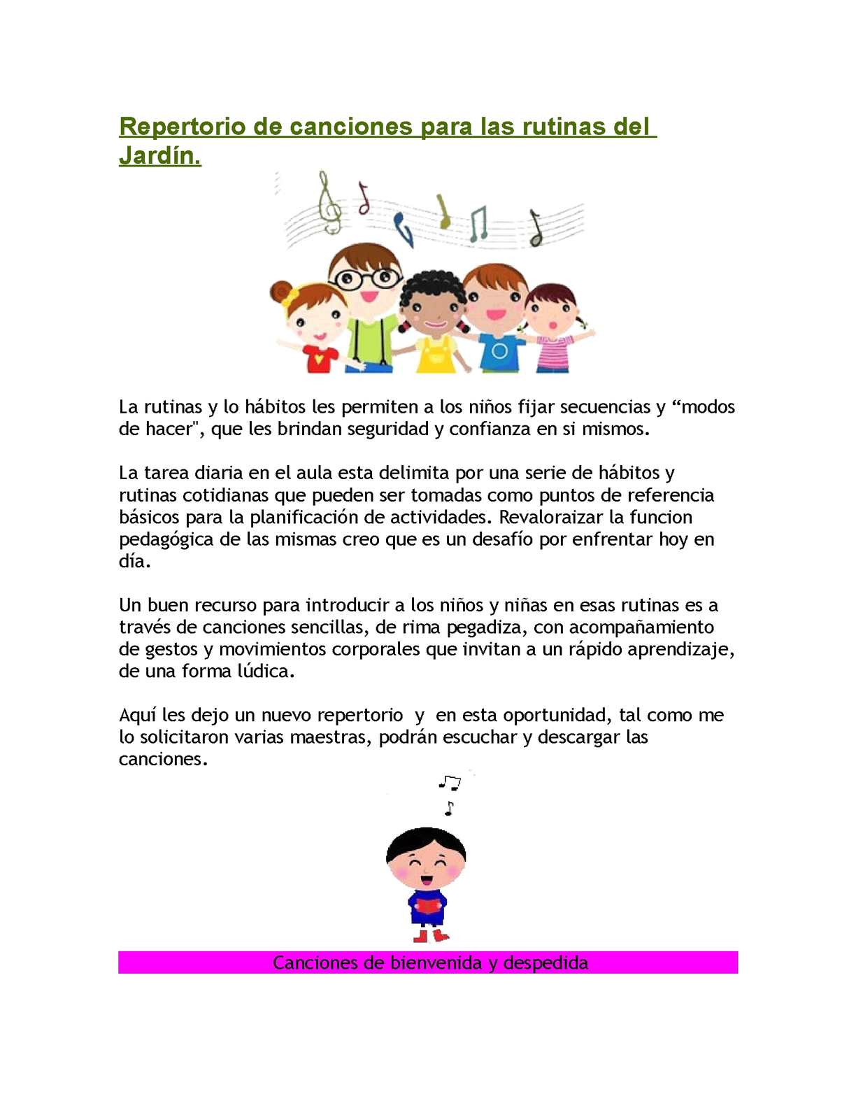 Cancion para educacion inicial textos iconoverbales for Cancion el jardin prohibido