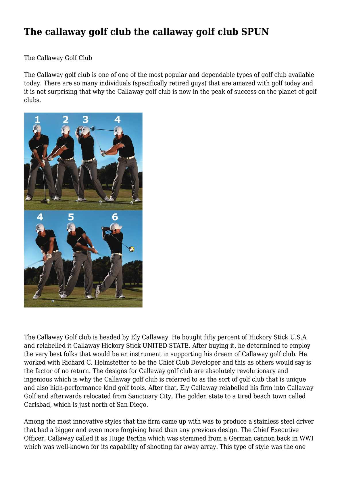 strategic analysis of the callaway golf company and determining the actual position of the firm in i Callaway golf company or an actual business assignment while not comprehensive and varying by industry and firm, some questions any strategic analysis.