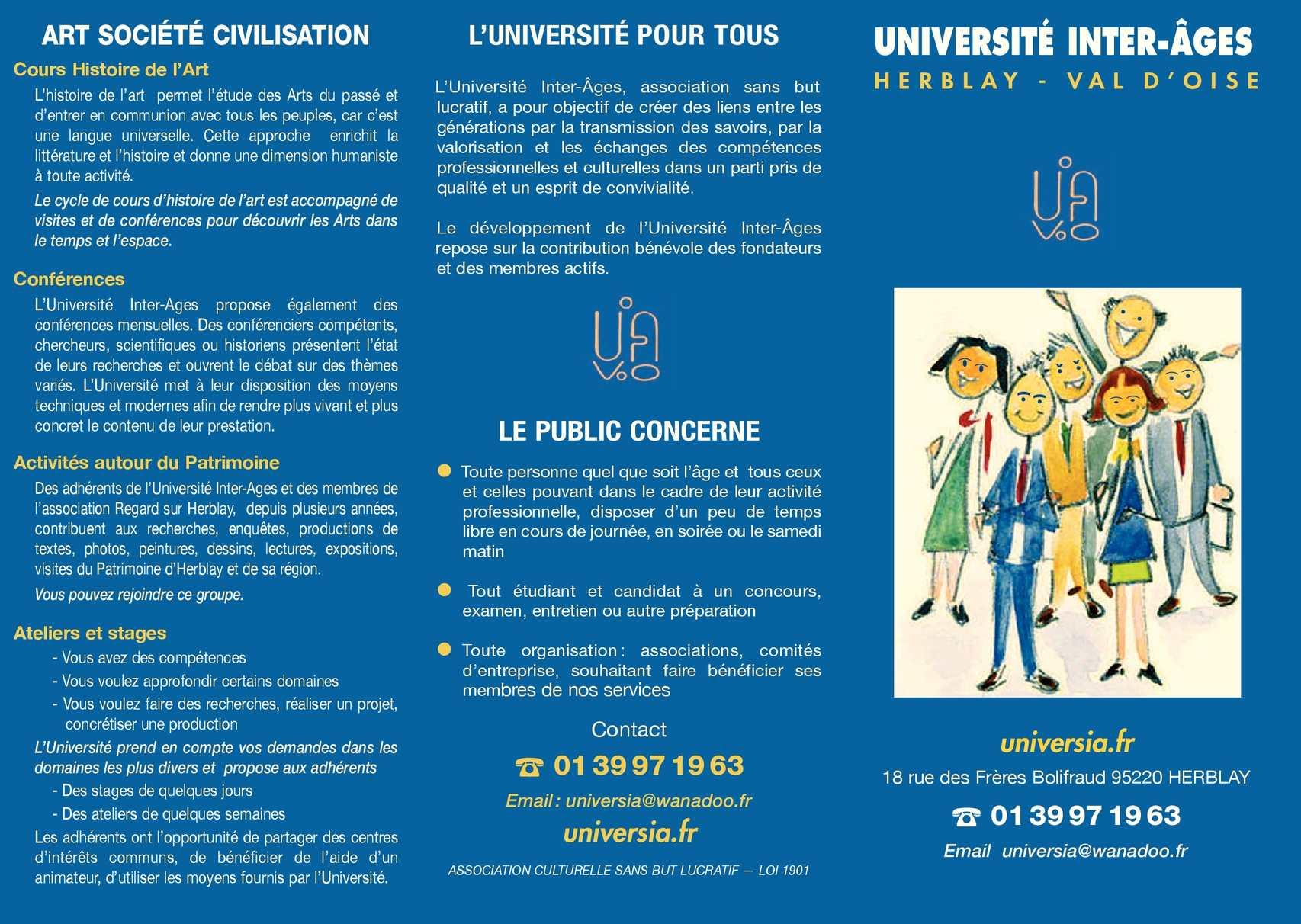 Calameo Les Cours De L Universite Inter Ages Herblay 2014
