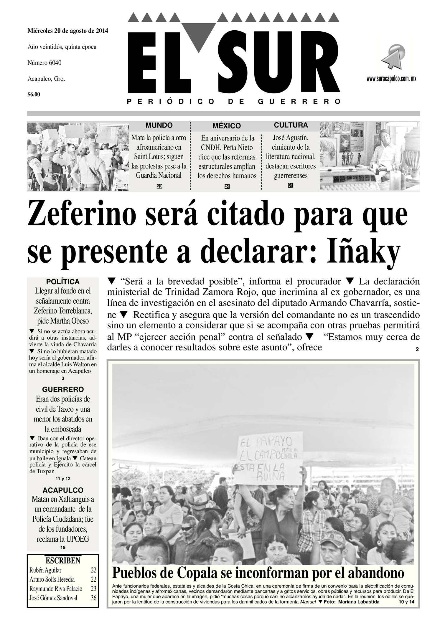 Calaméo - El Sur Miércoles 20082014.pdf