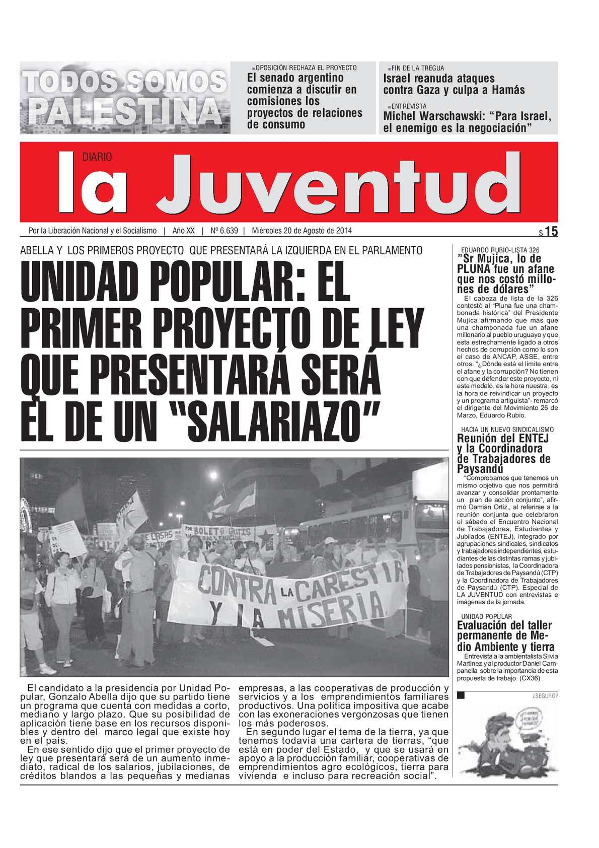Calaméo - UNIDAD POPULAR: EL PRIMER PROYECTO DE LEY QUE PRESENTARÁ ...