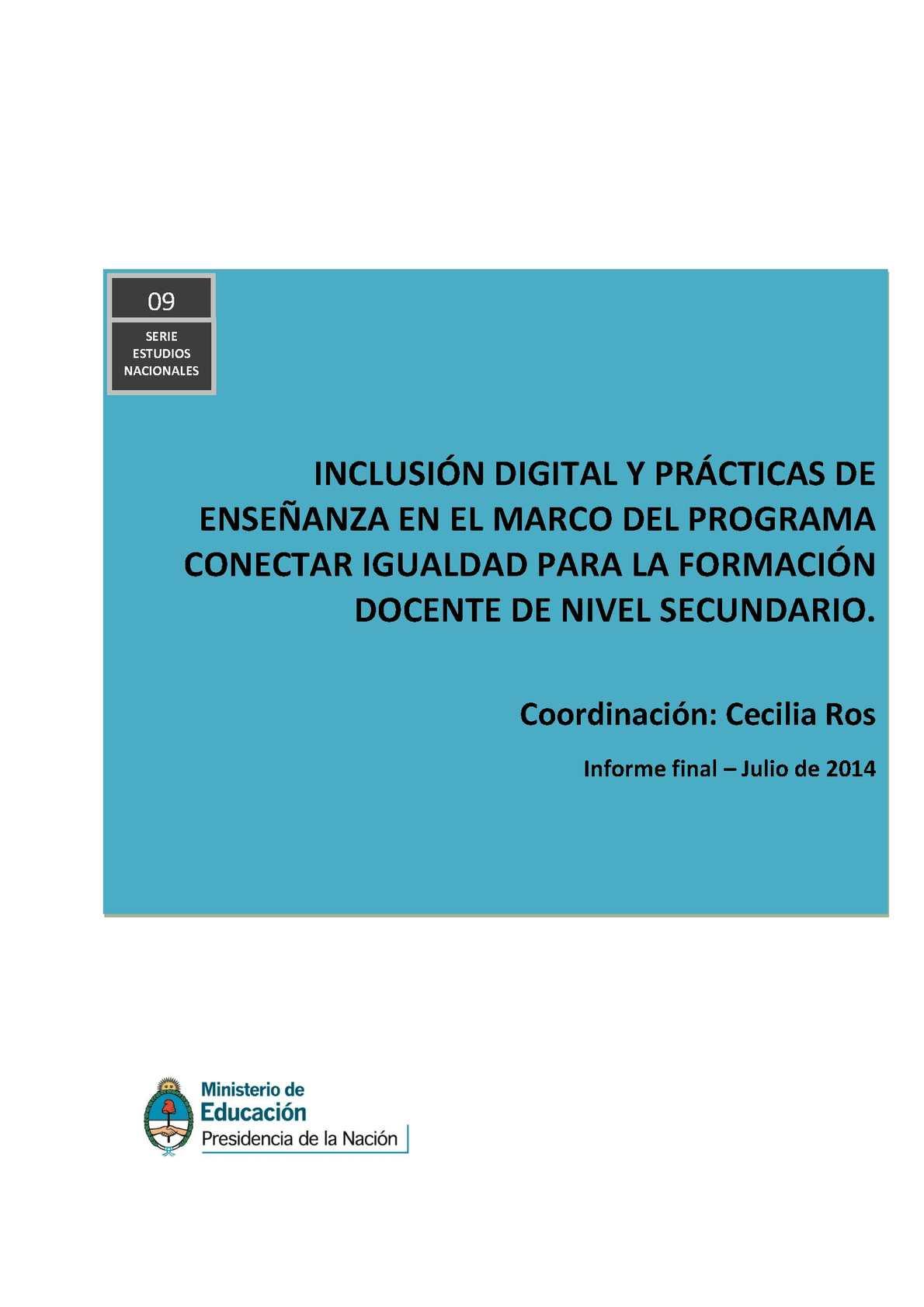 Calaméo - nclusión digital y prácticas de enseñanza en el marco del ...