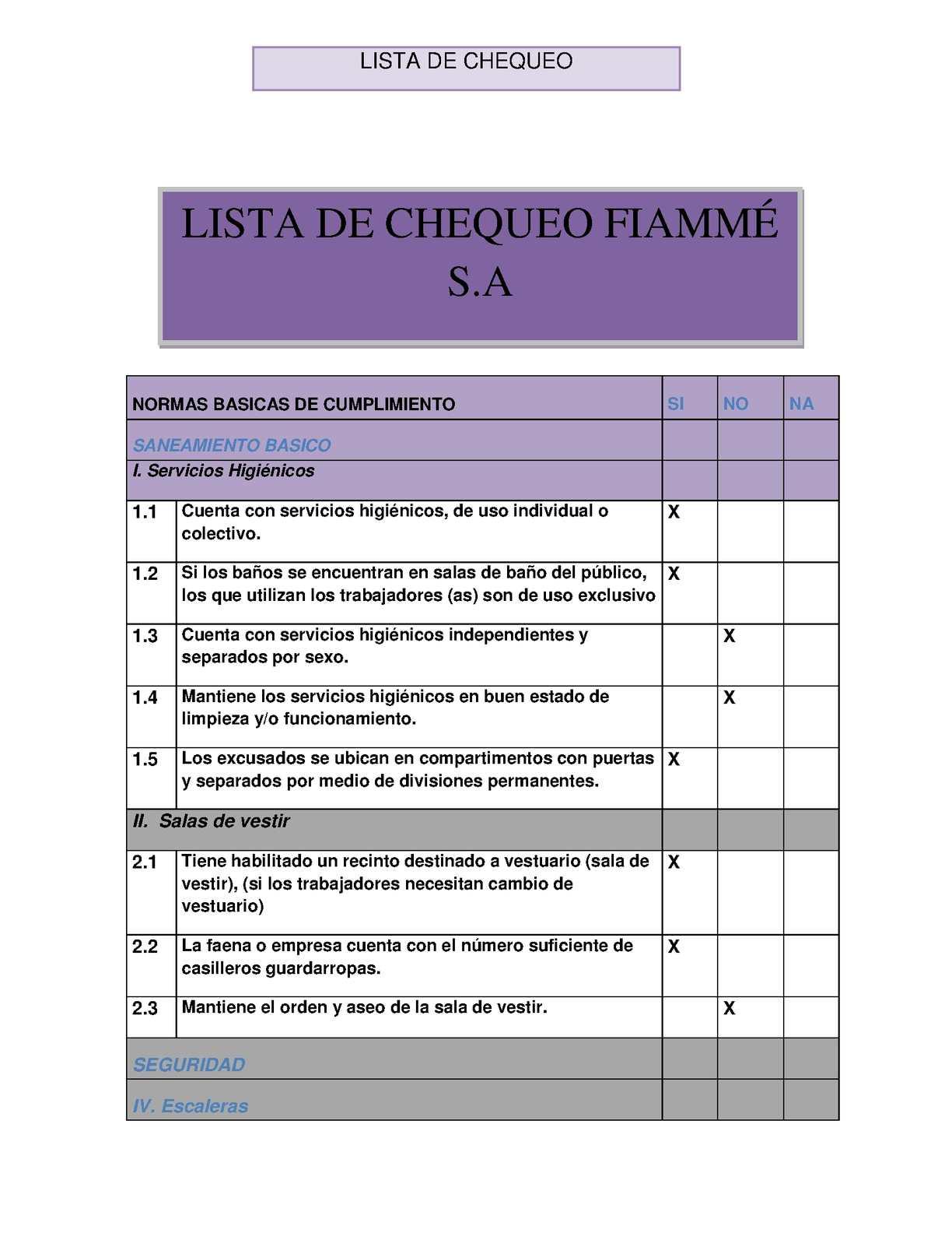 Calaméo - LISTA DE CHEQUEO