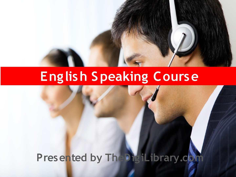 English Speaking Course Pdf
