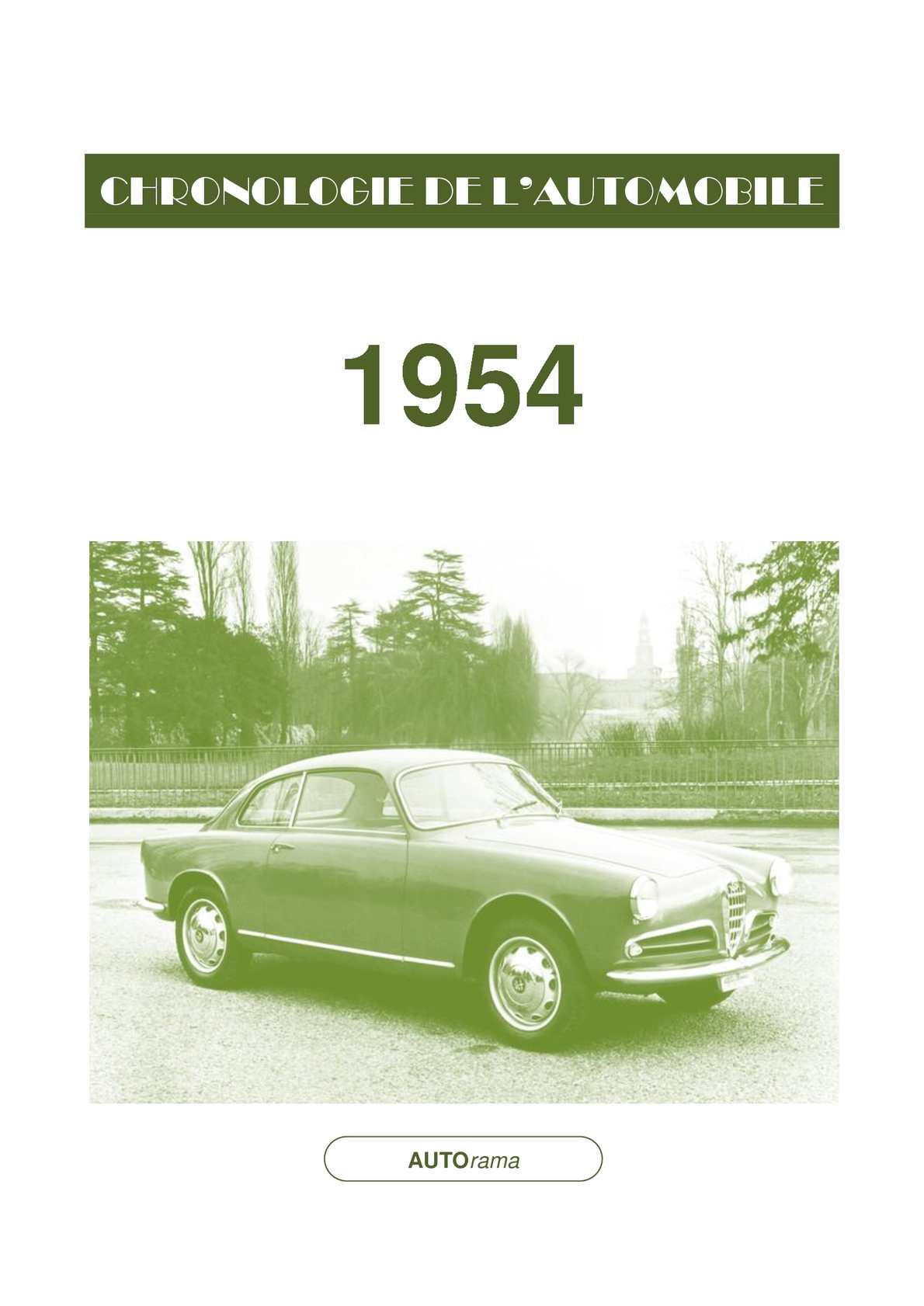 Chronologie de l'automobile - 1954