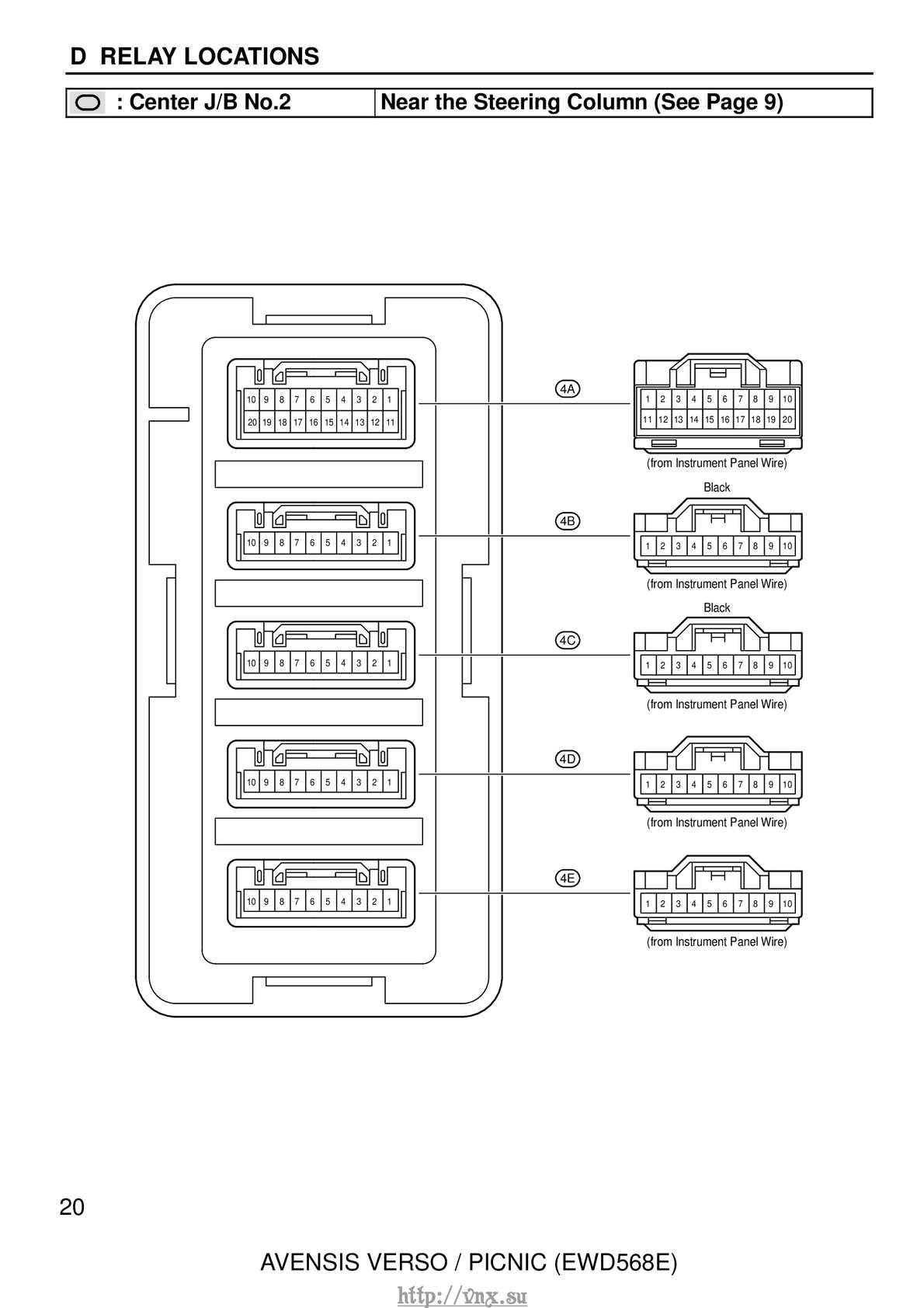 Vnxsu Avensis Verso Picnic Ewd 568e 450e 1 Calameo Downloader P25 Wiring Diagram Page 25
