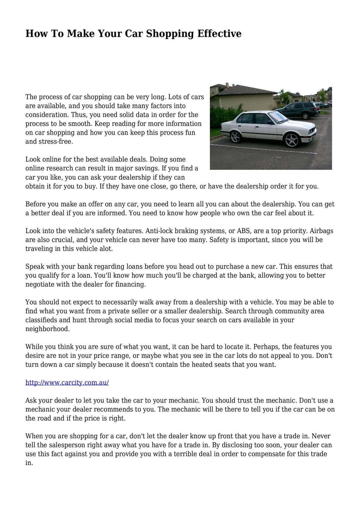 calaméo - how to make your car shopping effective