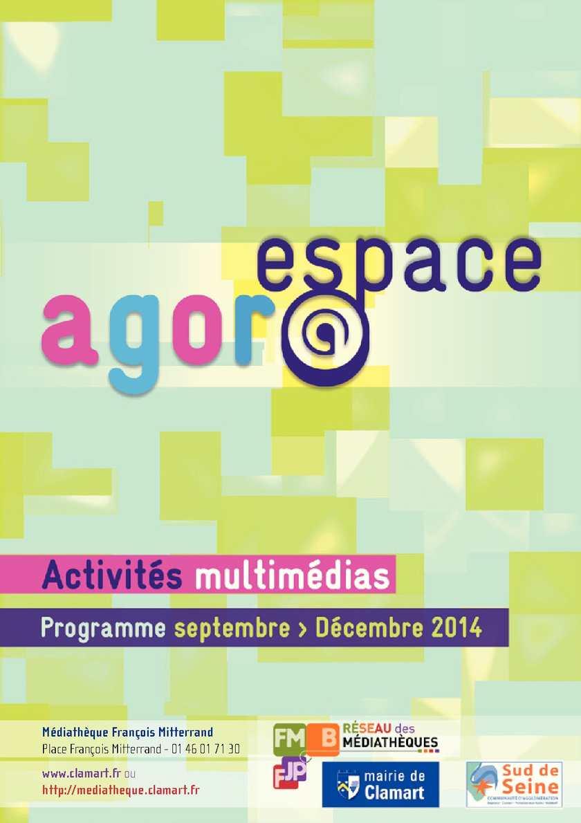 Espace Agor@ septembre à décembre 2014
