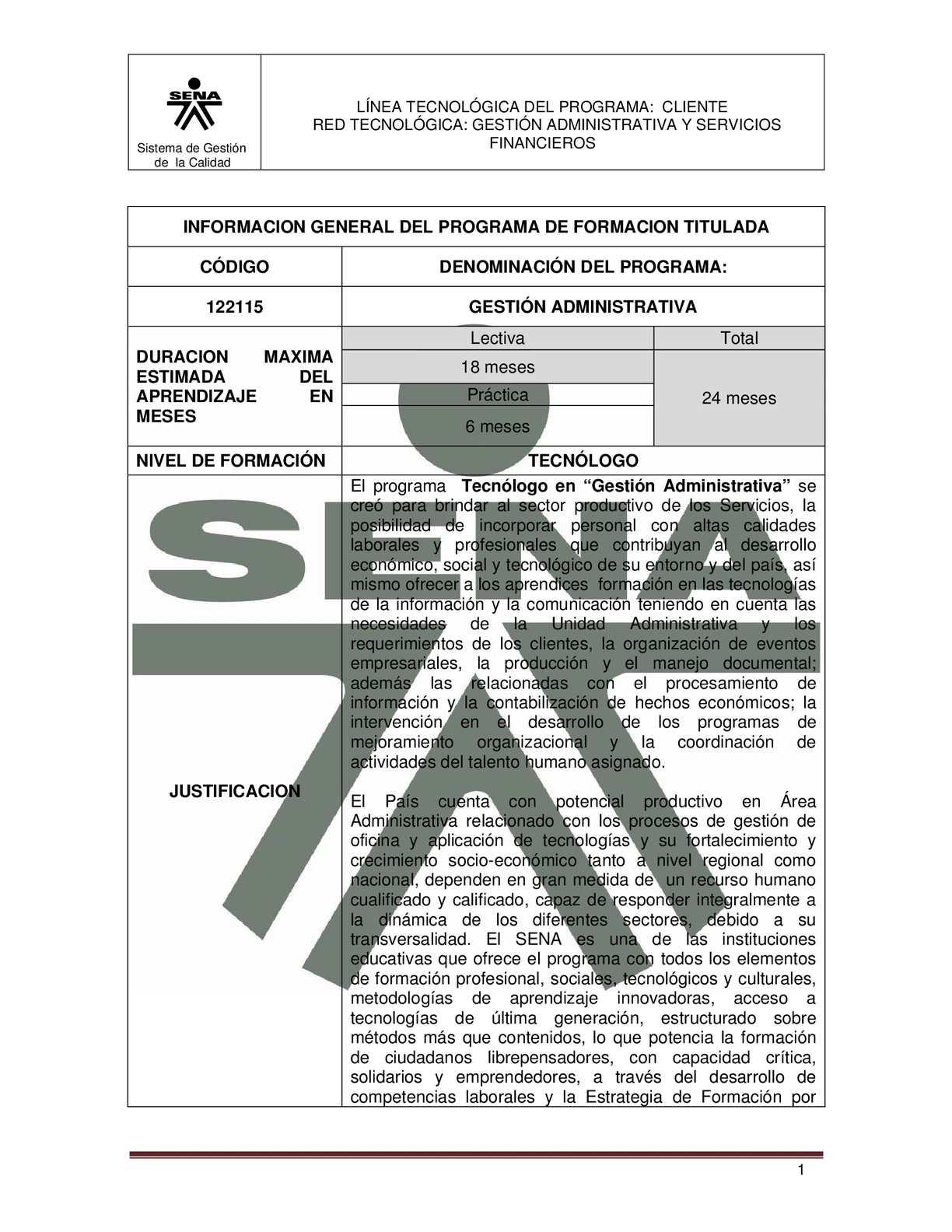 Calaméo - PROGRAMA DE FORMACION GESTION ADMINISTRATIVA