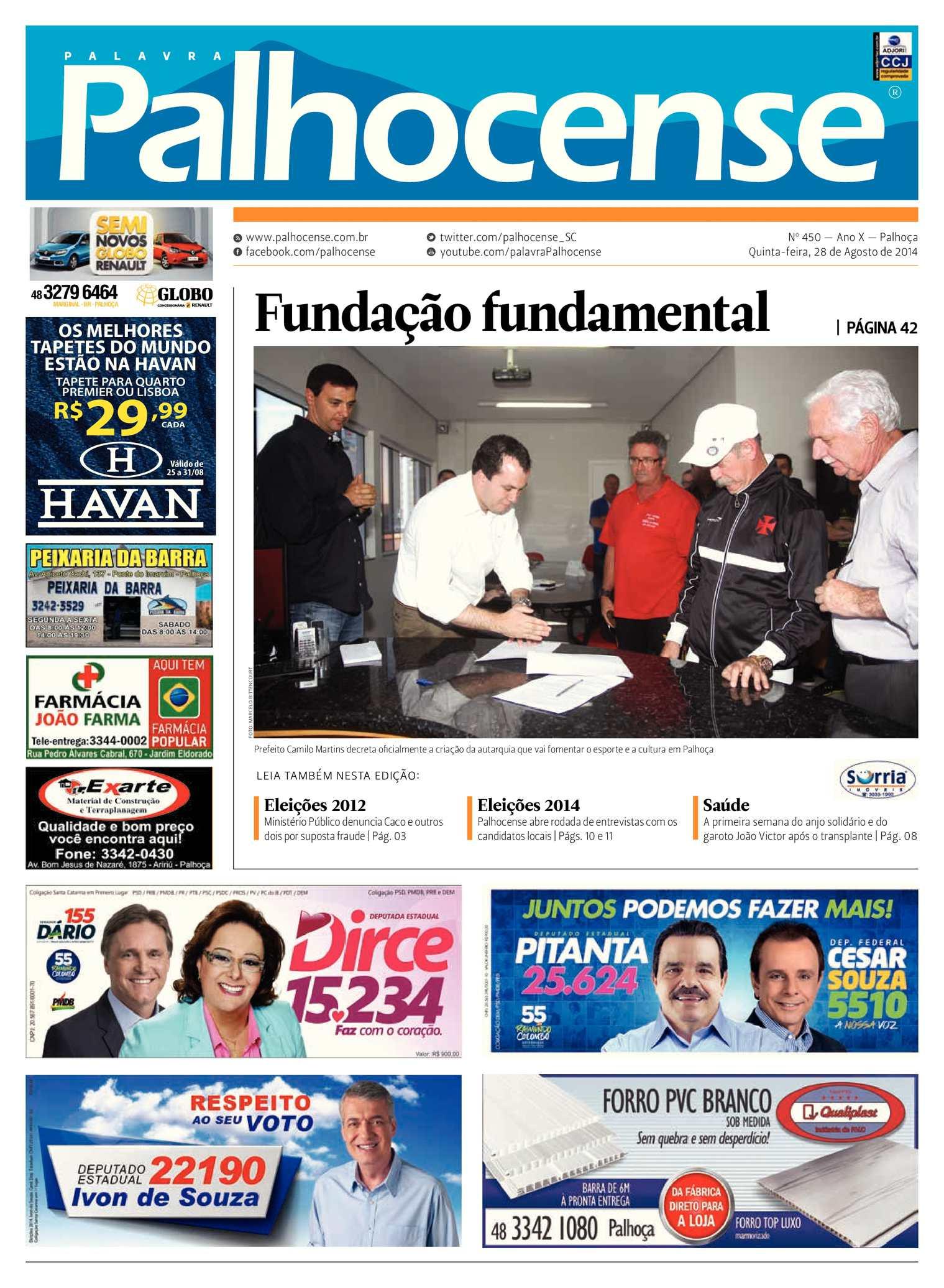 Calaméo - Jornal Palavra Palhocense - Edição 450 92661d97ee9e3