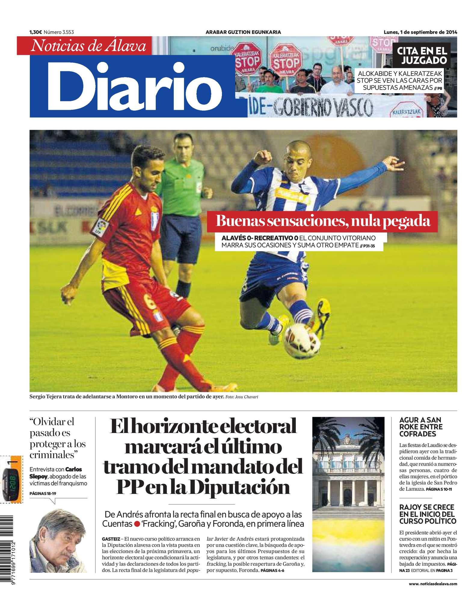 huge discount 5a3f0 e6e74 Calaméo - Diario de Noticias de Álava 20140901