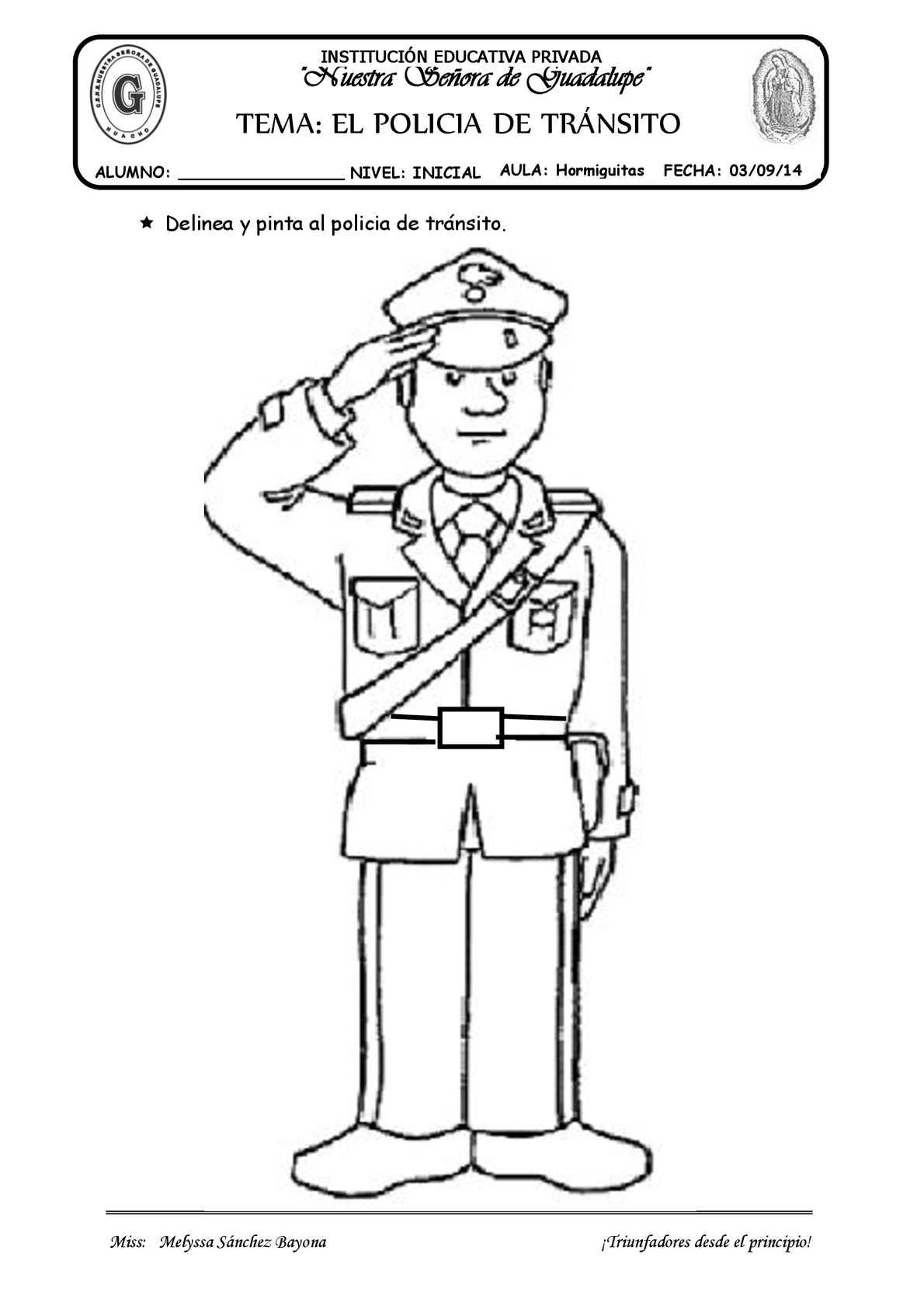 TEMA. EL POLÍCIA DE TRÁNSITO