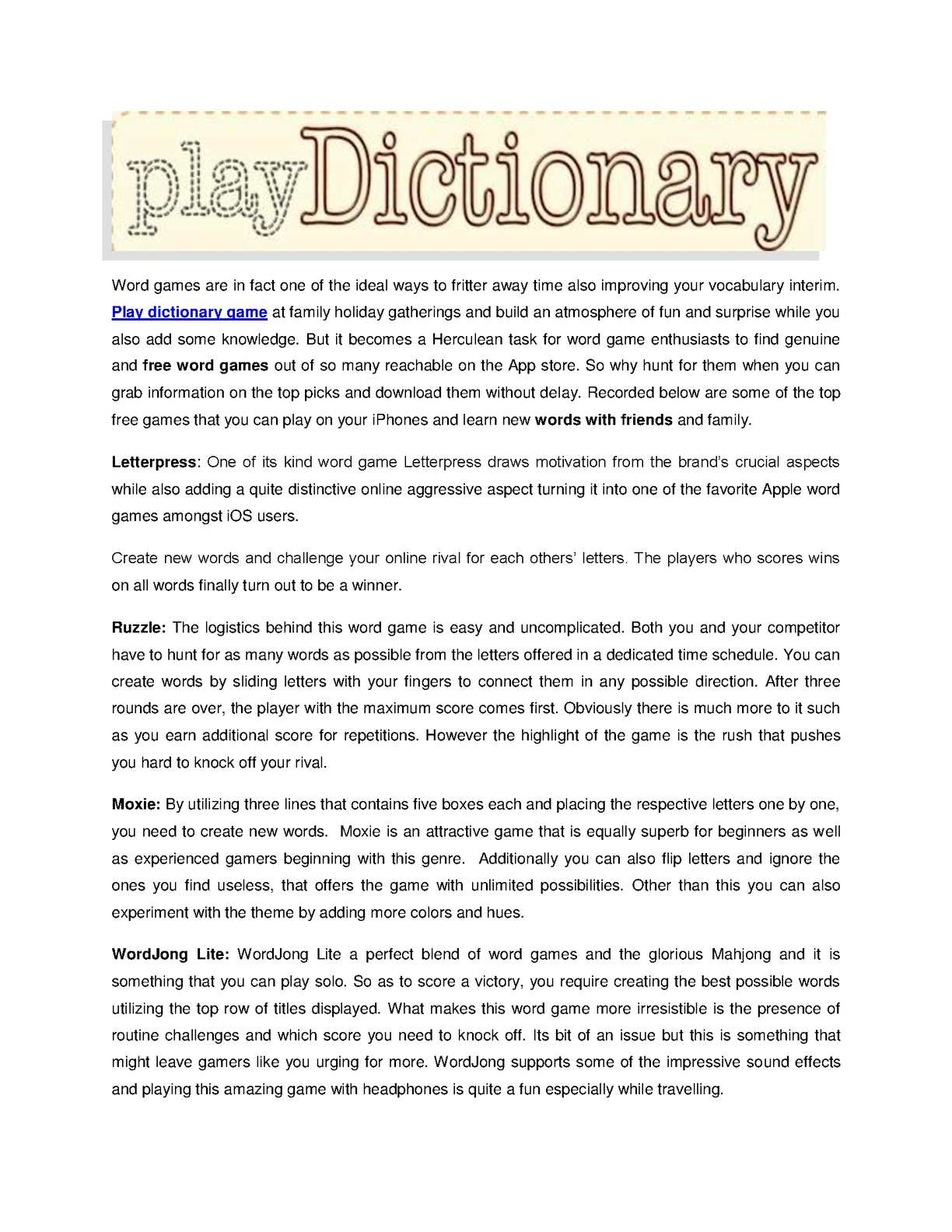 Calamo Play World Class Dictionary Game In Usa