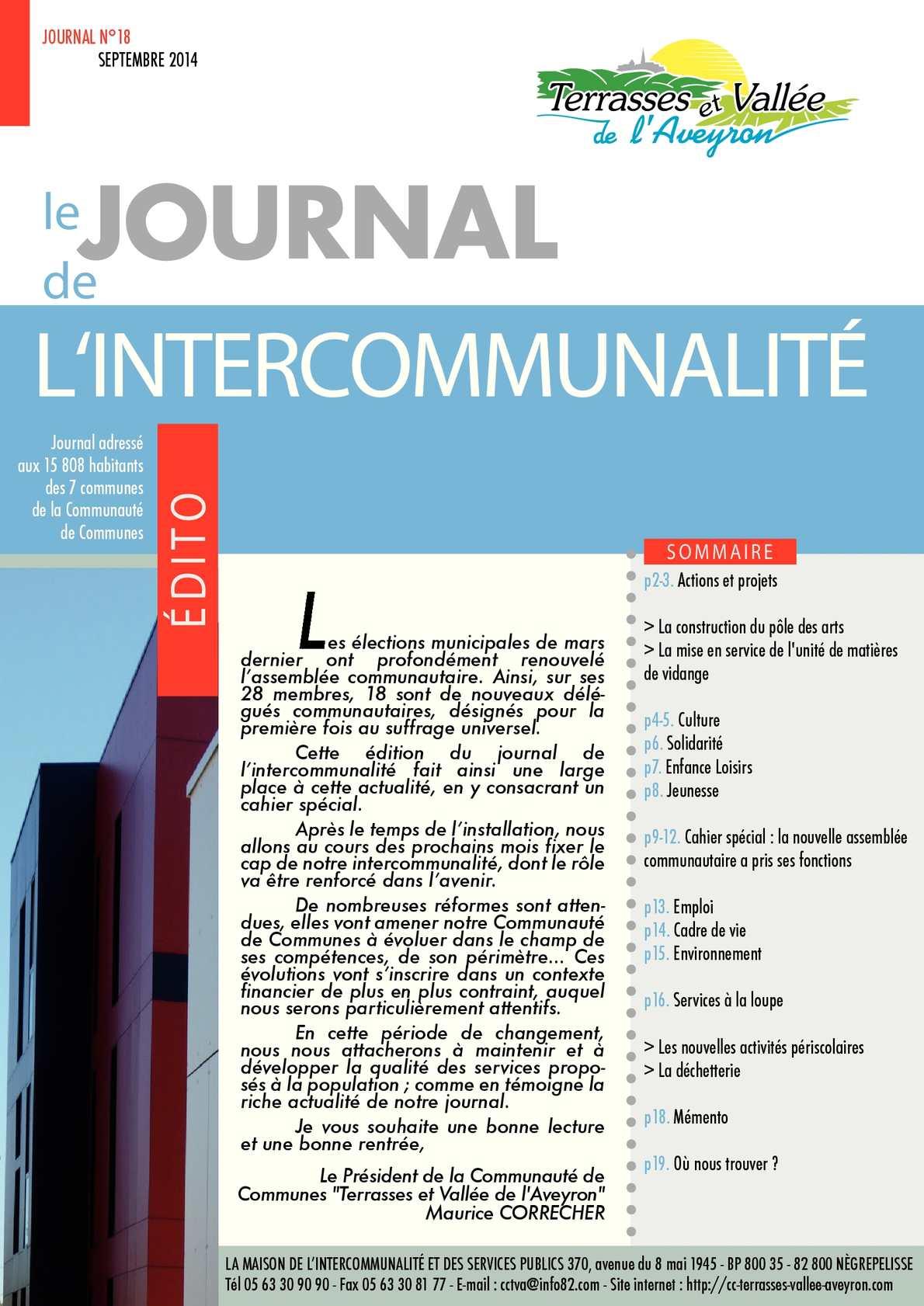 Calam o communaut de communes des terrasses et vall e de l 39 aveyron j - Le journal de l aveyron ...