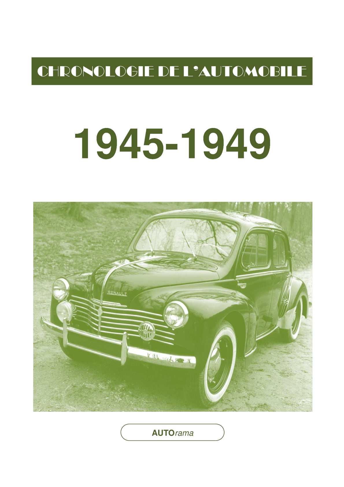 Chronologie de l'automobile - 1945-1949
