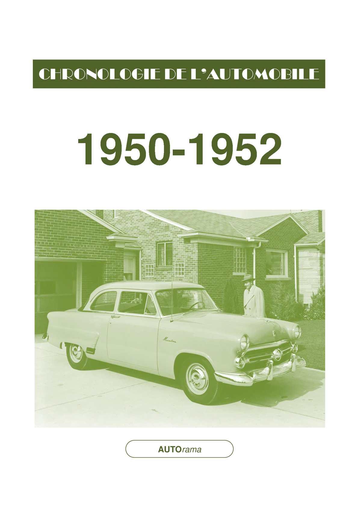 Chronologie de l'automobile - 1950-1952
