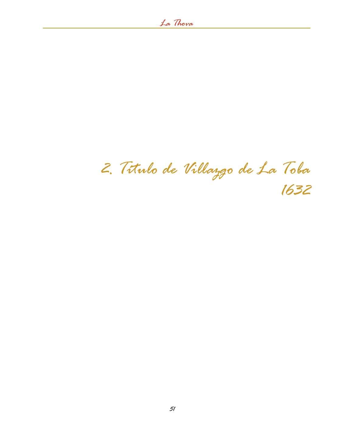 La Thova - Historia de la Villa de La Toba - Parte 2
